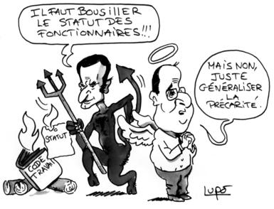 ca74dc59162 Statut des fonctionnaires   Macron et Hollande se partagent les ...